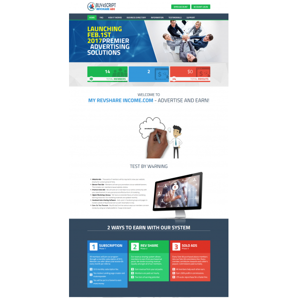 Hybrid Advertising Revenue Sharing Script + Template 2