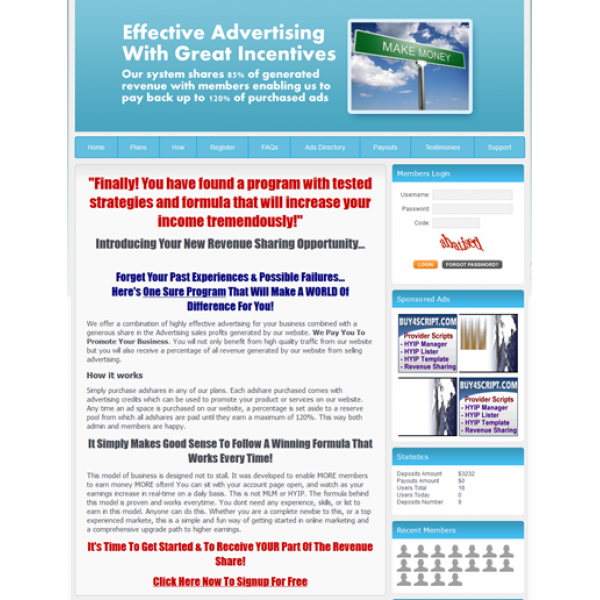 Hybrid Advertising Revenue Sharing Script