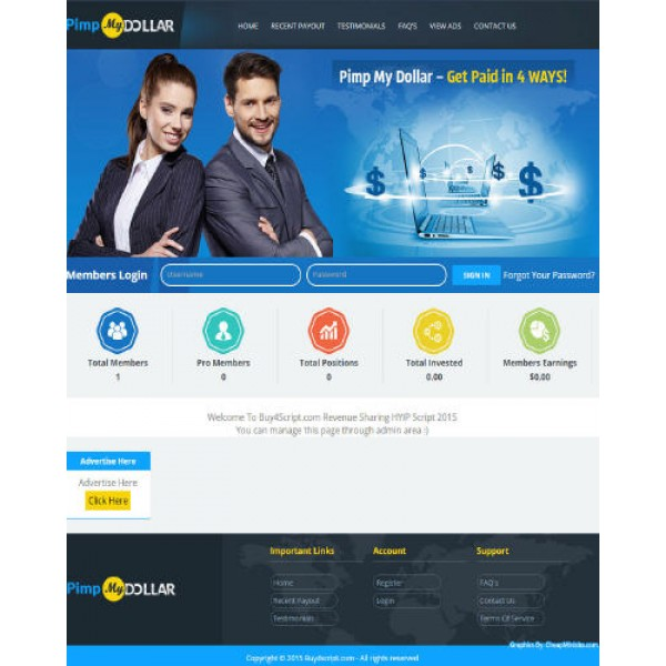 Ultimate Revenue Sharing-HYIP Exclusive Theme
